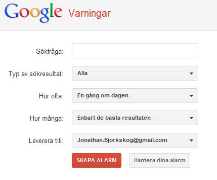 Så här håller du dig uppdaterad med Google varningar (Google alerts)