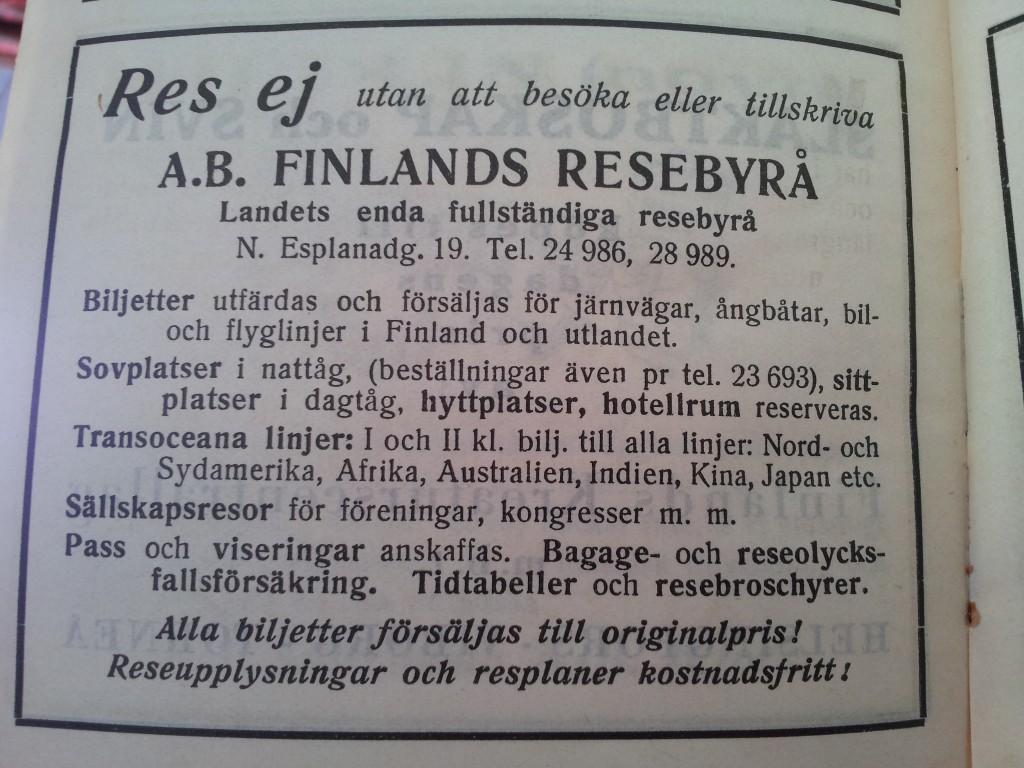 Res ej med ab Finlands resebyrå