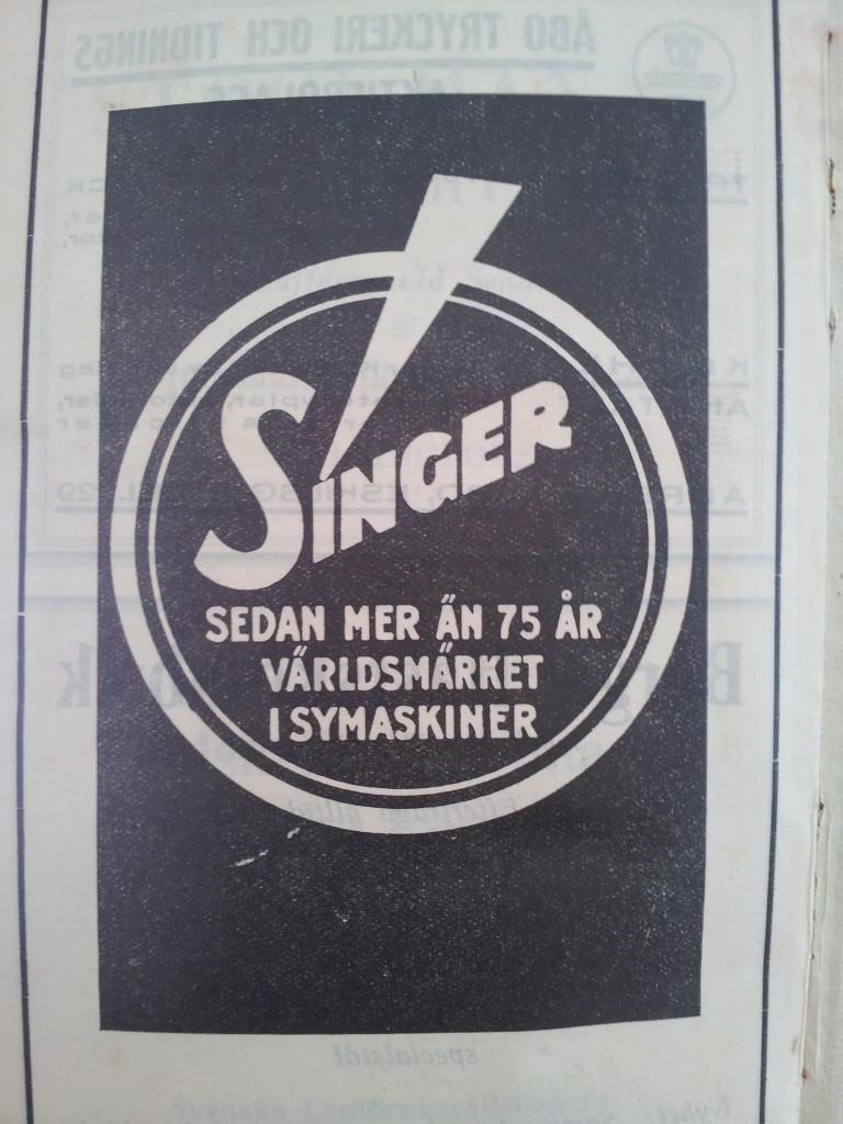 Singer symaskiner. En logo som man känner igen fast man inte kan sy