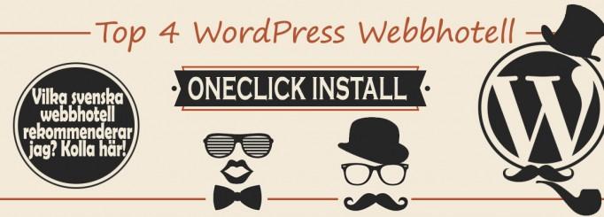 Top 4 svenska webbhotell för WordPress