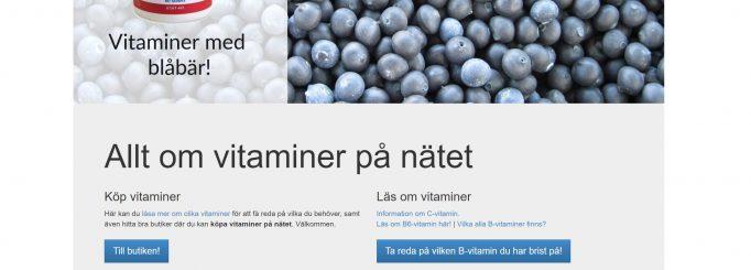 Sajt om vitaminer säljes – Köp Vitamintorget.se och bli vitaminhandlare
