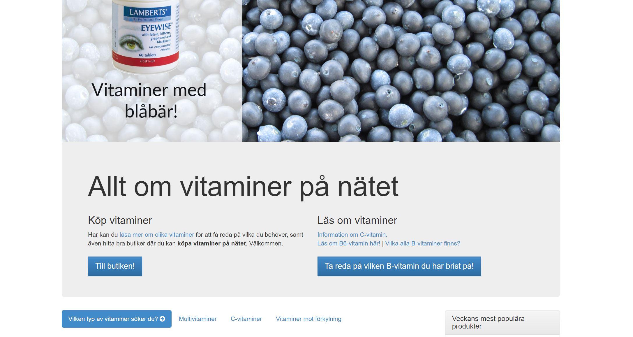 köpa vitaminer på nätet